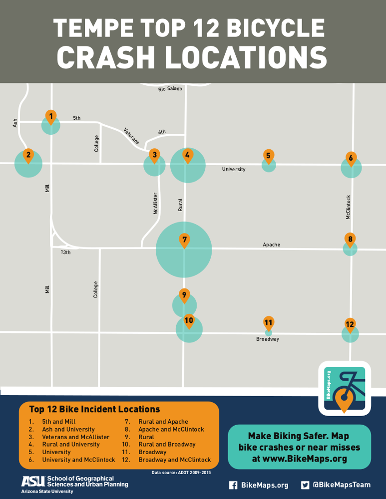 Map of crashes from official data sources